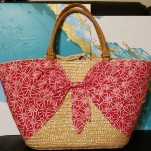 Straw beach tote by calypso
